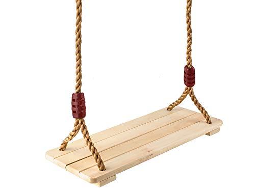 MALATEC Schaukel aus Holz Brettschaukel Kinder Spielplatz Outdoor Bewegung 6308