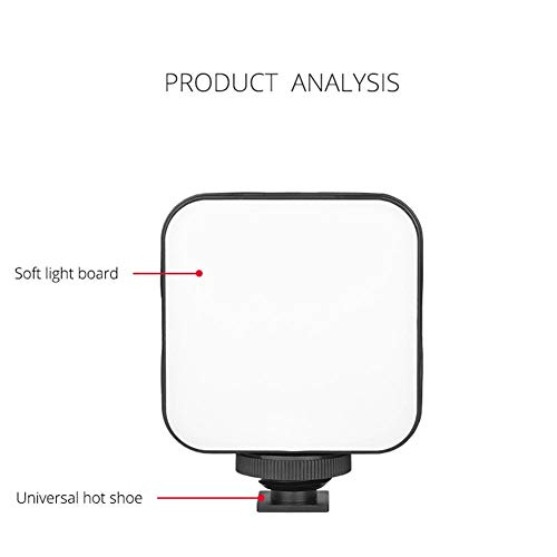 Letway Photography Fill Light, Mini Mobile Beauty Fill Light, Led Panel Light Photography Video Portable, 49 Lamp Beads, Button Dimming, 3 Shoe Socket Supports Multi-lamp Splicing apposite