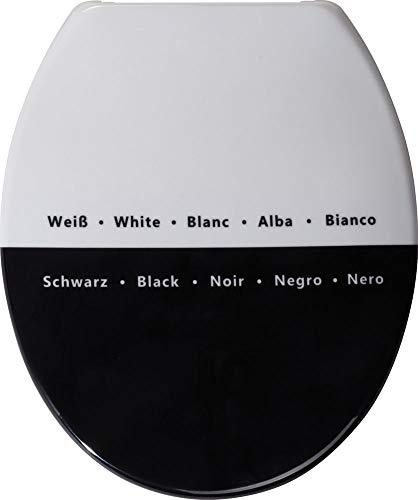 WC Sitz Paradoxum in schwarz-weiß TOILETTENDECKEL KLODECKEL KLOBRILLE WC DECKEL TOILETTENSITZ WC BRILLE