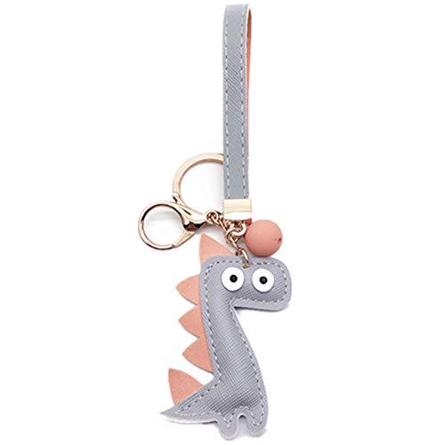 MUAMAX Dinosaur Keychain Grey Cute Keychain for Kids Car KeyChain Accessories Animal Keyrings Women Girls Gifts Bag Purse Handbag Pendant Charm