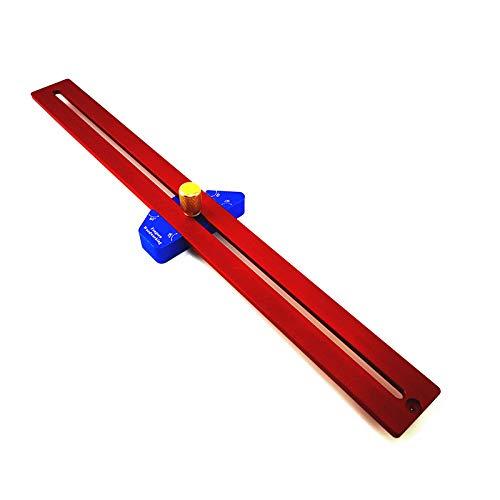CarAngels 木工定規 スライディングスコヤ T型ケージ 45度・60度・90度 直角定規 大工の測定およびマーキング用 ケガキ工具 アルミ製 (YX400)