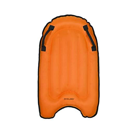 BESPORTBLE Bodyboards für Kinder Aufblasbare Surfbretter Schwimmende Reihe Surfing Pool Schwimmt Surfbrett für Strandurlaub Sommerparty Pool (Orange)