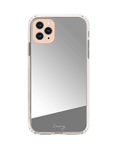 Casery iPhone Case Designed for The Apple iPhone, Mirror - Military Grade Protection - Drop Tested - Protective Slim Clear Case (Mirror Silver, iPhone Xs Max)