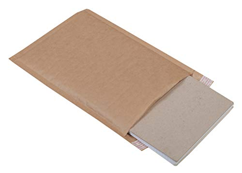 AMZ Supply Natural Kraft bubble mailers 6x9 Brown Padded envelopes 6 x 9 by Amiff. Pack of 20 Kraft Paper cushion envelopes. Exterior size 7x10 (7 x 10). Peel and Seal. Mailing, shipping, packaging. Photo #2