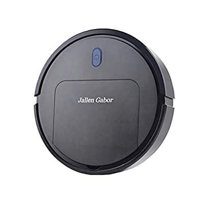 Mini Robot Vacuum, 3 in 1 Automatic Sweeping Robot Dust Machine Electric Vacuum Cleaner USB Rechargeable Auto Sweeper Black