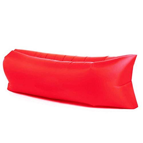 APQMR Sofa Luftcouch Für Camping Strand Ultraleichter Schlafsack Lazy Bag Aufblasbare Liege Aufblasbarer Stuhl Schlafsofa Bag Couch Für Camping-Rot