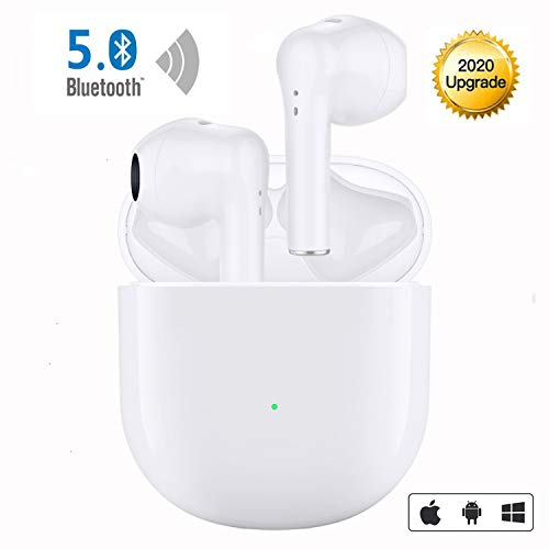 Wireless Earbuds Bluetooth 5.0 Headphones in-Ear Noise Cancelling Wireless Headphones IPX5 Waterproof 3D Stereo Earbuds Built in Mic Headsets with Fast Charging Case for iPhone Android Sport Earbuds