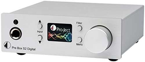 Pro-Ject Pre Box S2 Digital, Audiophiler Stereo Vorverstärker (Silber)