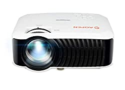 AOPEN by Acer QH10 200 Lumens HD WiFi Portable Home Theater Projector, Mobile USB Display, Screen Mirroring, Built in Speakers,AOpen,QH10