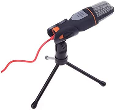 SF666 PC Microphone with Mic Stand Professional 3 5mm Jack Recording Condenser Microphone Compatible product image