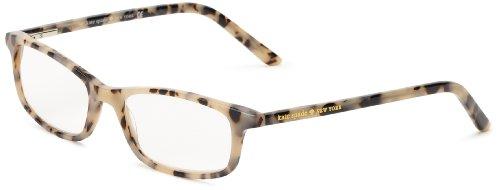 Kate Spade New York Women's Jodie Rectangular Reading Glasses, Milky Tortoise 20, 50 mm + 2