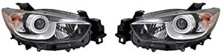 Go-Parts - PAIR/SET - OE Replacement for 2013 - 2015 Mazda CX-5 Front Headlights Headlamps Assemblies Front Housing / Lens / Cover - Left & Right (Driver & Passenger) MA2518146 MA2519146