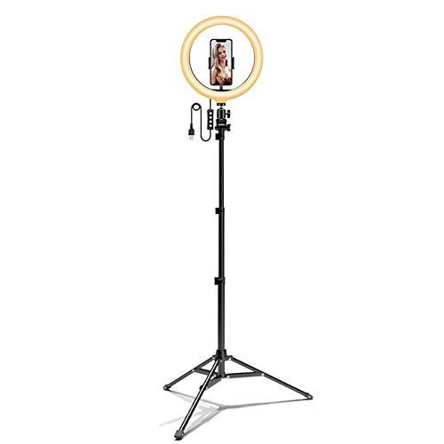 Anillo de Luz, 12' Aro de Luz con Trípode de 3 Colores, 10 Brillos Regulables, Control Remoto, para Móvil, Cámara, Youtube, Selfie Vídeo, Maquillaje Fotográfica, TIK Tok