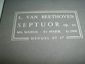 Beethoven Septet in E-Flat major.Op.20 Wind & Strings Heugel Pocket Score
