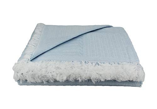 Desconocido Colcha Multiusos para Sofa, Manta Foulard, Plaid, cubrecama. (Azul, 230x290)