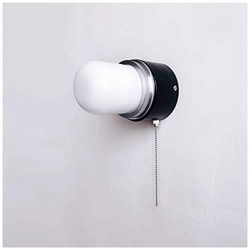 JR2021FF Lámpara de Pared Lámpara de Pared Decorativa Retra con Interruptor de tracción, Usado en Pasillo, Dormitorio, baño, Sala de Estar, Estudio Luces de Pared