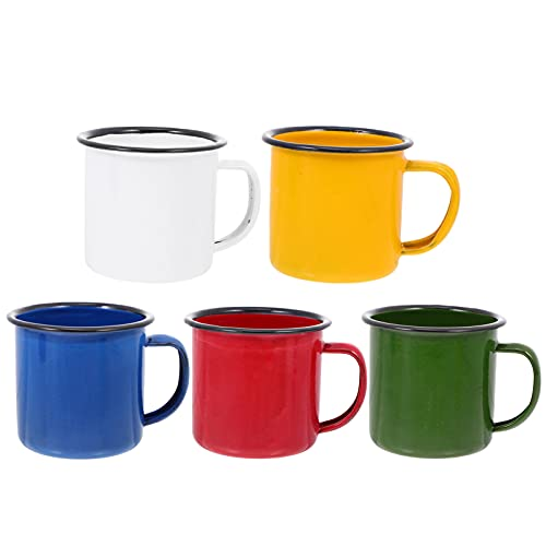 Angoily 5 Pzas Tazas Vintage Tazas de Café Rústico Taza de Té Retro Taza para Té Café Chocolate Vino Agua (Multicolor)