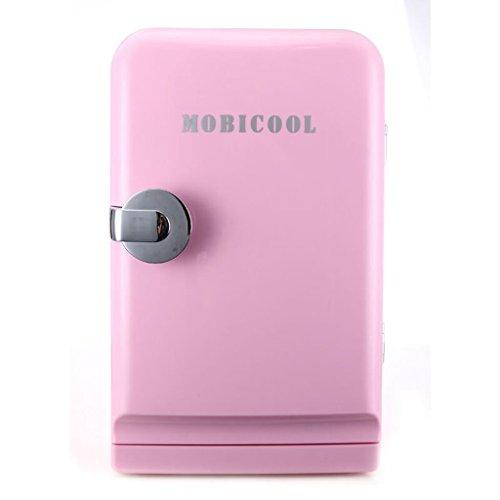 MUMUMI Ahorro de Energía 5L Refrigerador Refrigerador Mini Refrigerador Mini Pequeño Hostel Hostel Mini Refrigerador Coche Y Hogar Dual Uso Dual Nevera,Rosa