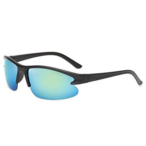 Gafas De Sol Polarizadas para Hombres Gafas De Sol Deportivas Polarizadas Montura Negra Clásica Lente Azul Claro Gafas De Sol Gafas De Ciclismo para Exteriores Deportes Conducción Gafas De