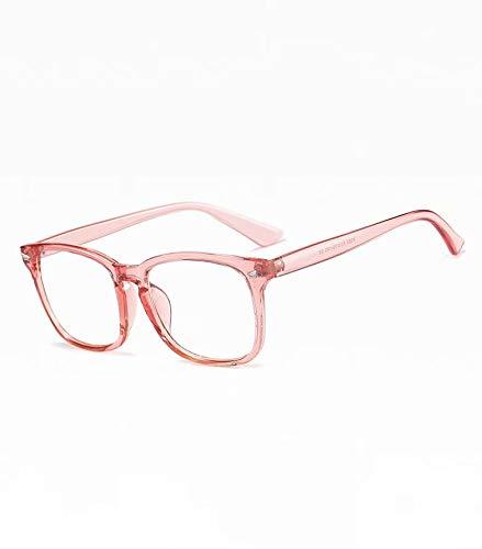 Xinhengchen アンチグレアグラス ビデオ、PC、TVグラス ブルーライトブロッキンググラス 抗疲労および眼精疲労グラス コンピューターグラス ゲームグラス アンチUVグラス Transparent pink 140*45*143mm