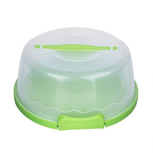 Portabotas, portavasos, portátil, redondo, transparente, con tapa de bloqueo, mango para tartas y cupcakes