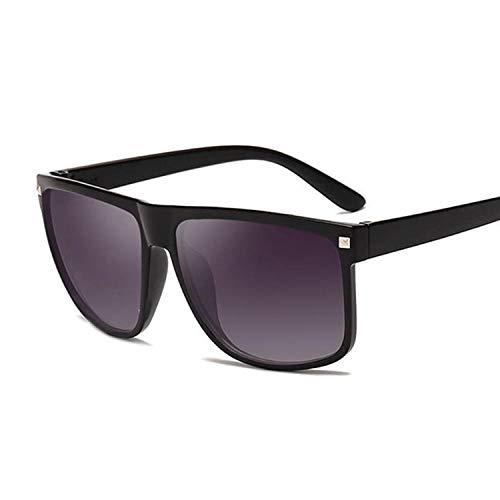 Gafas De Sol Gafas De Sol Clásicas Cuadradas Hombres Mujeres Gafas De Sol Hombre Mujer Vintage Uv400-Blackgray