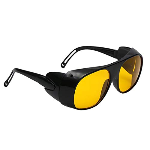oshhni Gafas para Soldar Gafas para Soldar Protección de Seguridad Ojos de Soldador Gafas - Amarillo