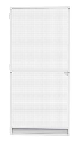 Nematek® Mosquitera para puerta, sin agujeros, protección contra insectos con marco para puerta de balcón o terraza (120 x 240 cm), color blanco
