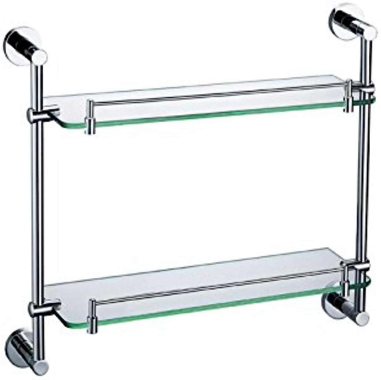 ULING GS0022-2 Double Glass Shelf Bathroom Hardware
