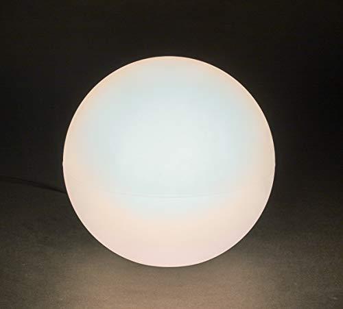 Scheurich Lumen Style Globe 40, Leucht-Objekt aus Kunststoff, rund, Farbe: Weiss