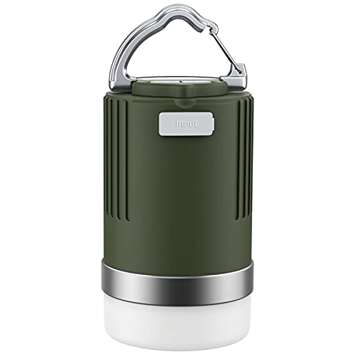 EMNT - Linterna LED de camping (15.000 mAh, recargable, con 4 modos de iluminación, alimentación de emergencia, IP65, luces para tienda, camping, pesca, senderismo