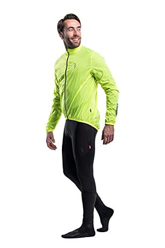 BBB Cycling fahrrad jacke, leicht, wasserabweisend und windabweisend, für Mountainbike, Rennrad und Urban Biking - für Damen, Herren, Kinder - BBW-148, Gelb (Neon Yellow), XL
