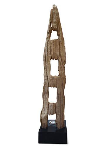Kinaree 120cm Treibholz Stehlampe PHETCHABURI - Einzigartige Stehlampe mit indirekter Beleuchtung aus einem rustikalen Stück Altholz