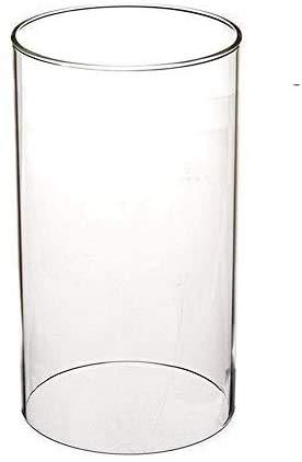 SUNWO Clear Kaars Houder, Borosilicaat Glas, Glazen Schoorsteen voor Kaars Open Ended, Glazen Hurricane Kaarsenhouders van elke grootte