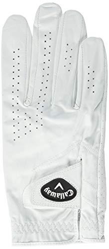 Callaway Herren Golf Handschuhe Dawn Patrol, Linke Hand (für den Rechtshänder), weiß, Large