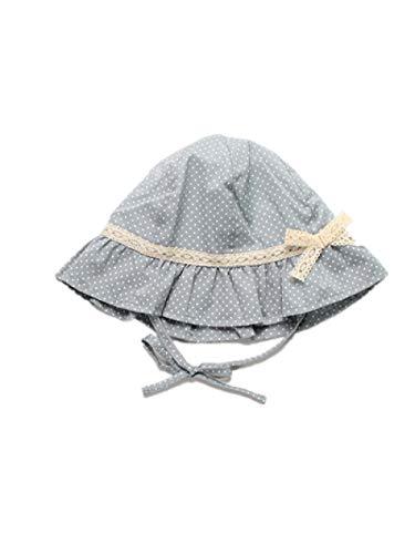 AQ1 Gorro Bebe Ajustable Verano bebé protección Solar Aleros Grandes Sombrero de pescador-8-15 Meses_ Porcelana Cian