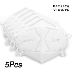 5pcs Masch-era Antipolvere N95 Masch-era Respiratoria N 95 Copriviso Protettiva Smog Polvere FFP2 Inquinamento anti PM2.5