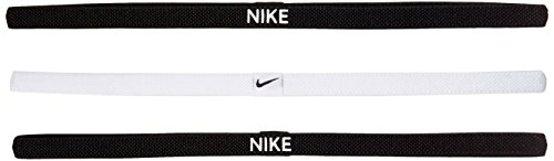 Nike Elastico Hairbands, Confezione da Fascia, Donna, Elastic Hairbands, 3er Pack, 036 Black/White/Blac, Taglia Unica