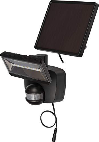 Brennenstuhl Solar LED-Strahler SOL 800 / LED-Strahler für außen mit Bewegungsmelder und Solar-Panel (IP44, inkl. Akku, hochwertige Marken LED´s, 400lm) schwarz