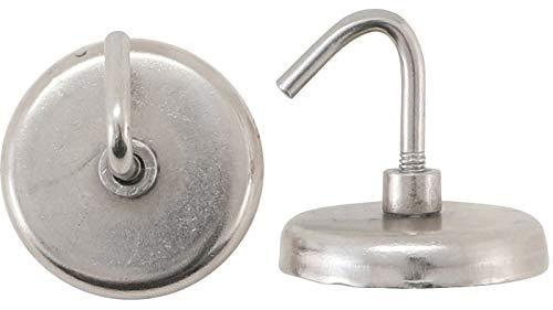 Kraftmann 79913 Magnet-Haken rund Ø 34 mm 2-tlg