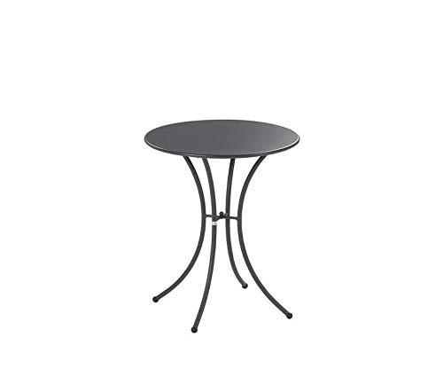 EMU Table pour extérieur Pigalle Kiss diamètre 60 cm en fer galvanisé et verni à la poudre – Couleur fer antique fantaisie 22 – Produit fabriqué en Italie
