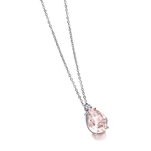 Gargantilla Cuarzo Rosa y Diamante de LECARRÉ JOYAS.