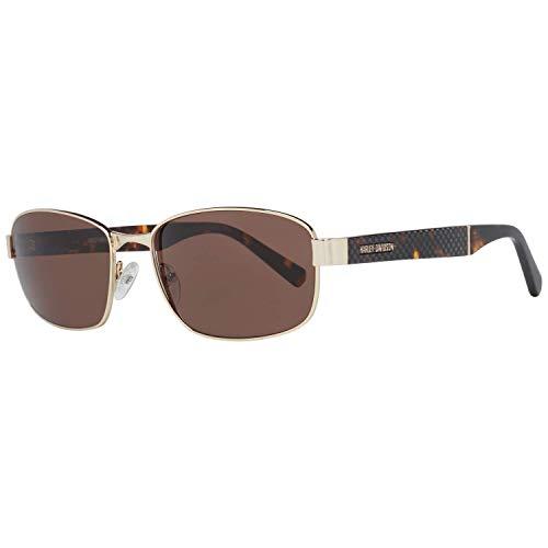 HARLEY-DAVIDSON   Cerniere flessibili, filtro di protezione UV400, lenti di qualità HLT®, occhiali da sole   Montatura: avana, oro, occhiali: HD0919