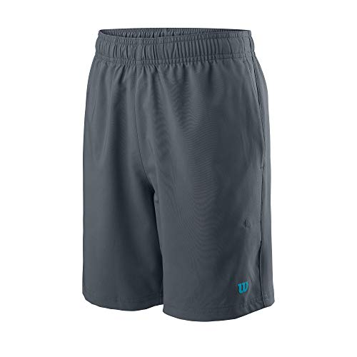 Wilson Jungen Shorts, TEAM 7 SHORT, Polyester, Grau (Turbulence), Größe L, WRA767408LG
