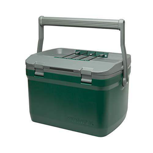 Stanley Adventure Outdoor Cooler - Camping Kühlbox | Doppelwandige Schaumisolierung | BPA-frei |Deckel fungiert auch als Sitz | Robuste Kühlbox ohne Strom | Auslaufsicher, 15.1L, Grün