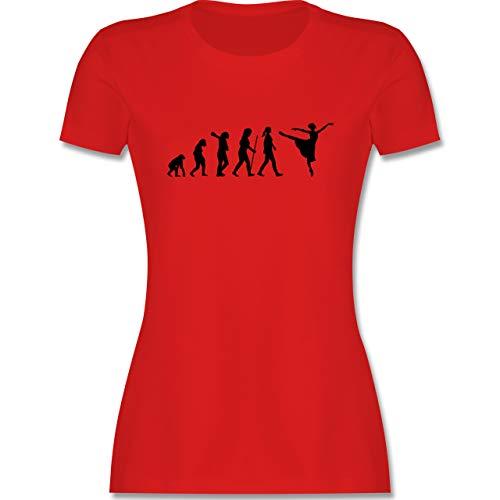 Evolution - Ballett Evolution Arabesque - L - Rot - Mann - L191 - Tailliertes Tshirt für Damen und Frauen T-Shirt