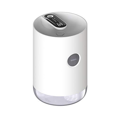 ミニ超音波空気加湿器ミニオフィスアロマディフューザー家庭用無音寝室加湿器 (パール・ホワイト)