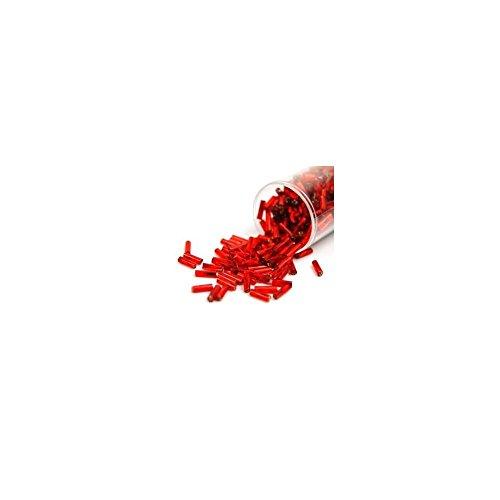 Gütermann Perlen Stifte 7 mm gedreht Röhrchen 24 g Farbe 4580 rot