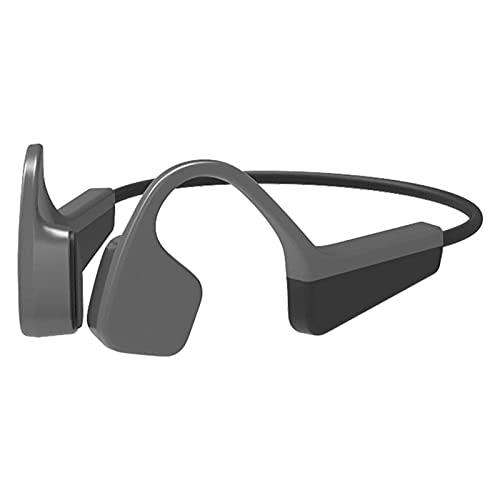 HKJZ SFLRW Auriculares de Titanio con conducción ósea Bluetooth 5.0 Inalámbrico Ligero Flexible con micrófono Auriculares Abiertos a Prueba de Agua para Deportes Correr a Prueba de Agua Ciclismo