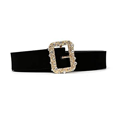 Fashion Designer Belts for Women,Leather Belts for Dress with Gorgeous Crystal Buckle